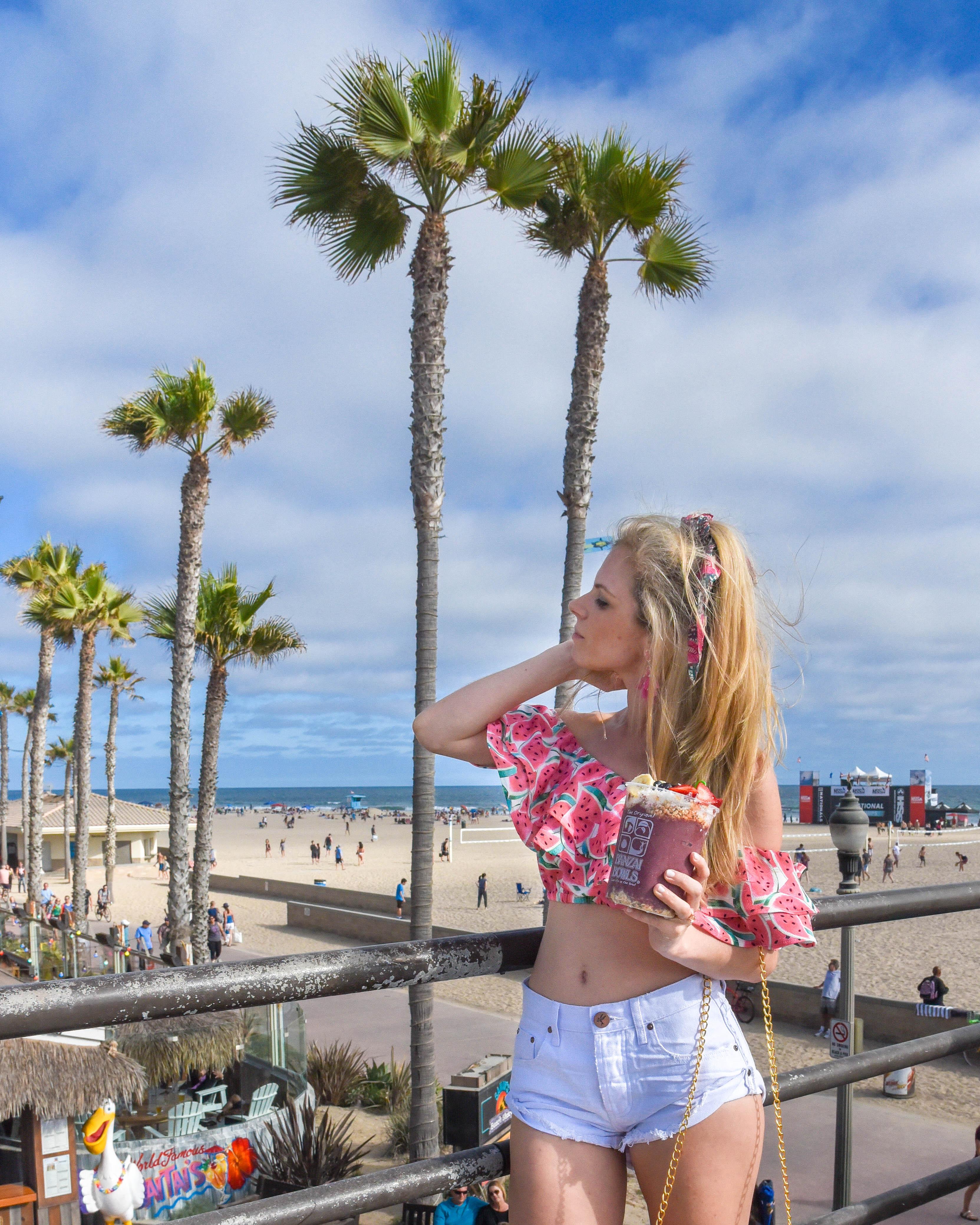 Huntington Beach Pier Surf City USA Banzai Bowl Travel Guide to Los Angeles California