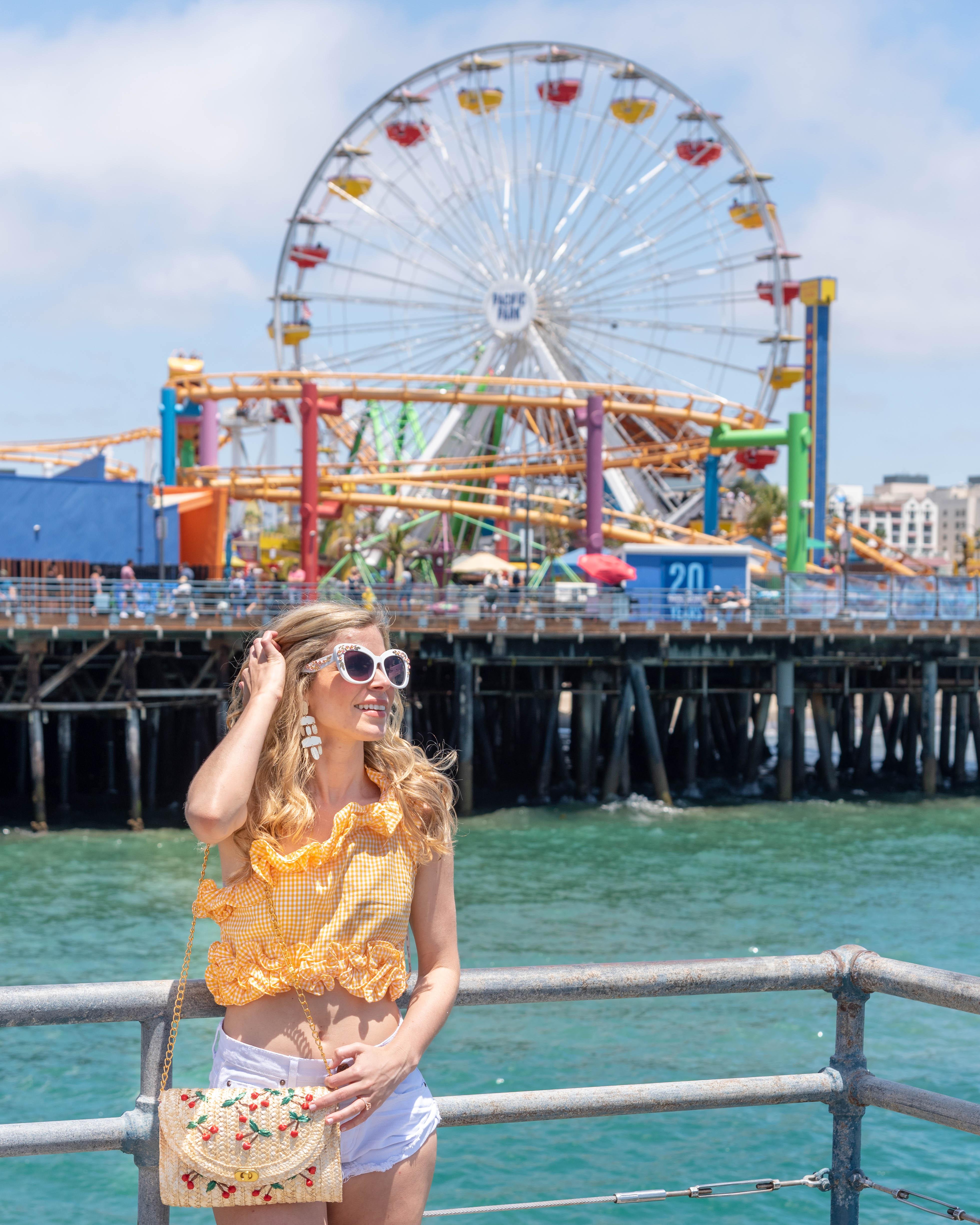 Santa Monica Pier Ferris wheel Pacific Park California Travel Guide to Los Angeles