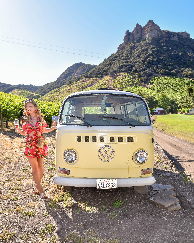 Malibu Wines Safari Travel Guide to Los Angeles Saddle Rock Winery VW Volkswagon Van