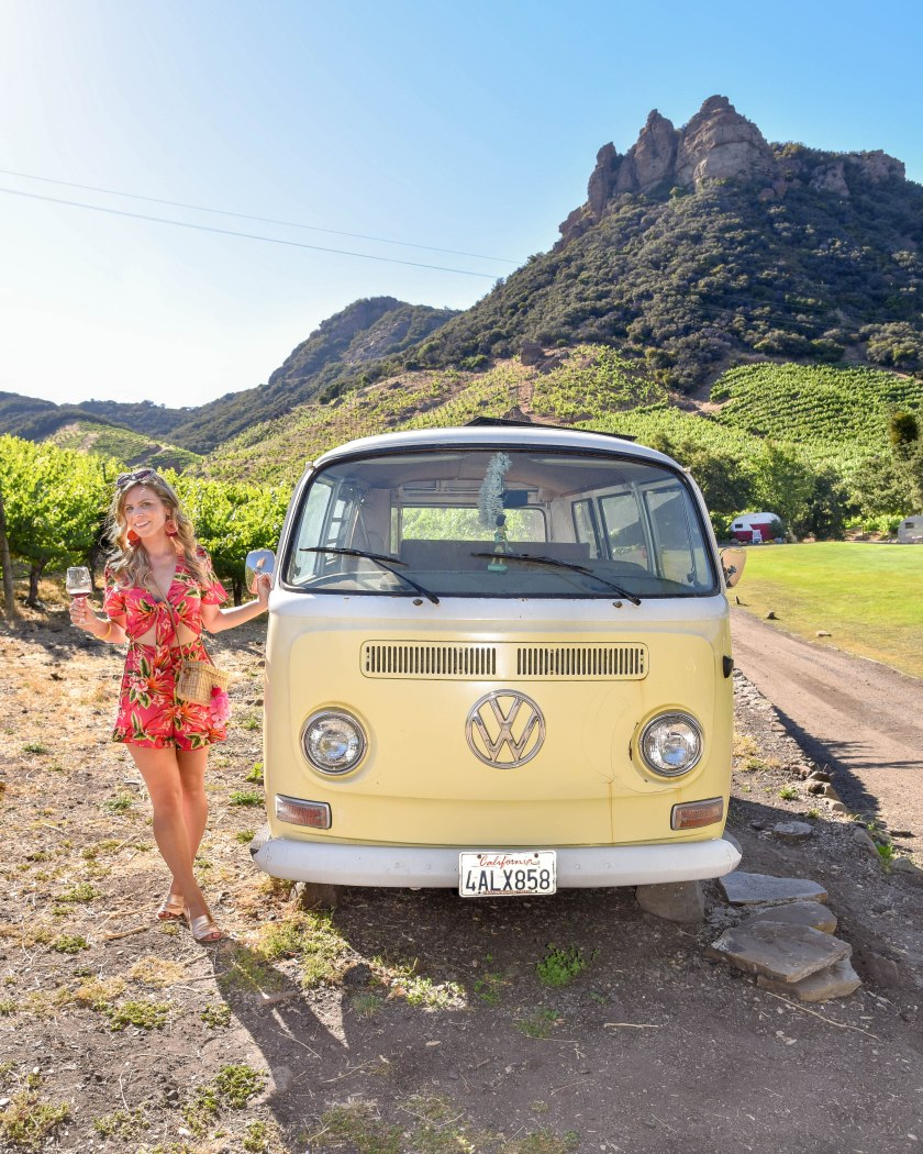 Malibu Wines Safari Travel Guide to Los Angeles Saddle Rock Winery VW Volkswagon Van